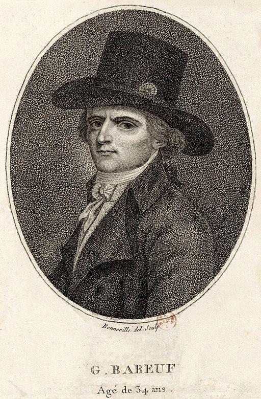 Gracchus Babeuf, gravure de François Bonneville, 1794.