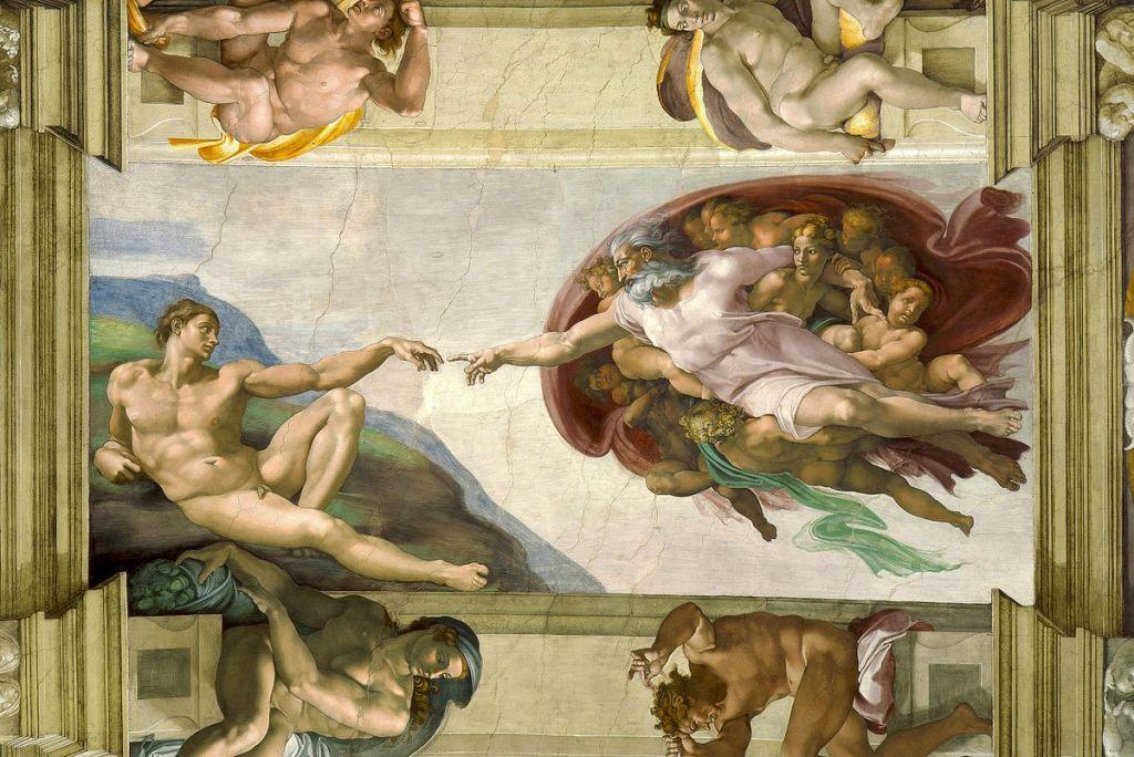 La création d'Adam selon Michel-Ange