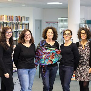 L'équipe de bibliothécaires de la BU de l'ICES.
