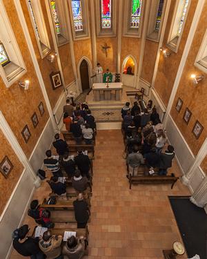 La chapelle Miséricorde est le coeur spirituel de l'ICES