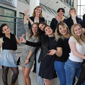 Des étudiants européens profitent du programme d'Eramus + à l'ICES