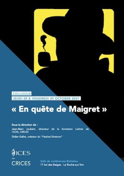 Colloque En Quete Maigret