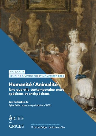 Colloque Humanite Animalite