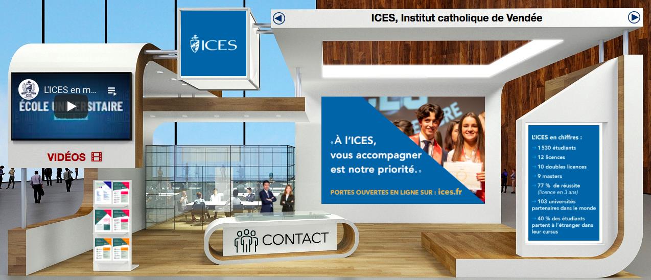 Stand ICES - Salon virtuel L'Étudiant