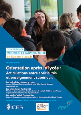 Conférence APEL Orientation Spécialités Lycée