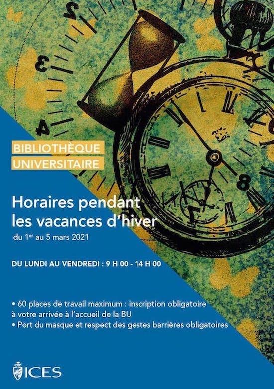 OUVERTURE DE LA BU PENDANT LES VACANCES D'HIVER