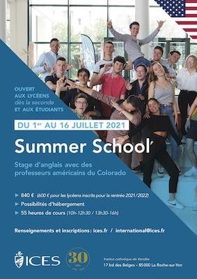 Stage d'été Anglais - Summer school 2021