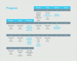 French Summer Academy Program 2021