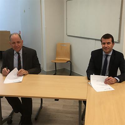 Signature de Convention entre l'ICES et l'INFN Nantes